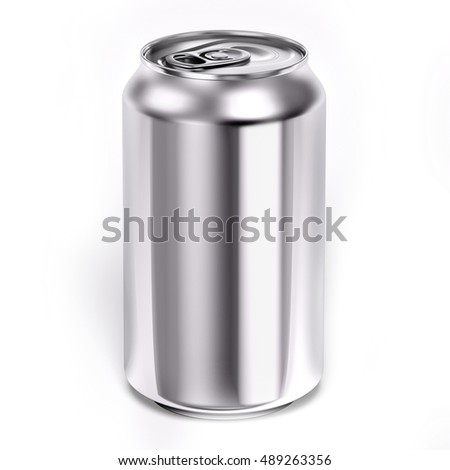 Aluminum Can 3d illustration