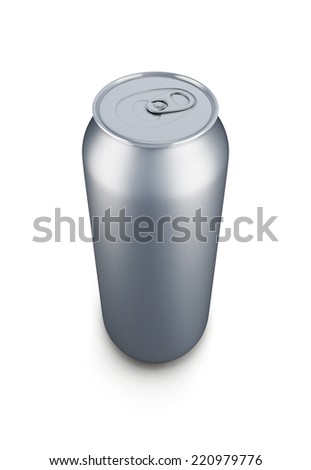 Aluminum can isolated on white baclground. 3d render image.