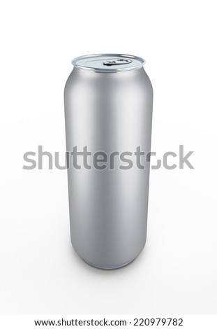 Aluminum can isolated on white baclground. Template can for design.