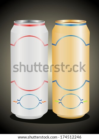 Aluminum can with water drops - stock photo