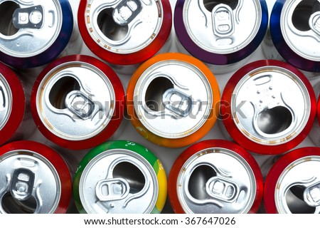 Aluminum cans - stock photo
