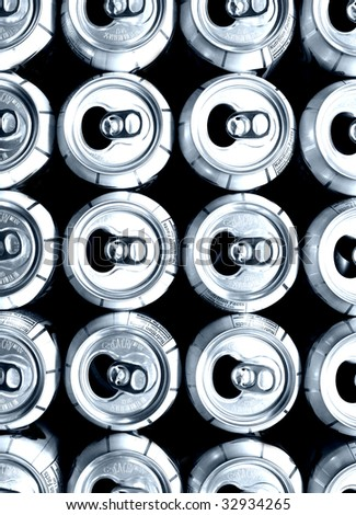 aluminum cans ready to recycle