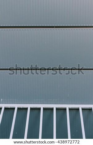 aluminum cladding of the building - stock photo