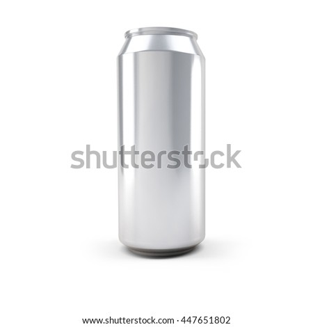 Aluminum Drink Can 3D illustration for product mockup