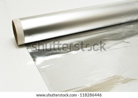 Aluminum foil - stock photo