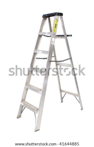 Aluminum Ladder - stock photo