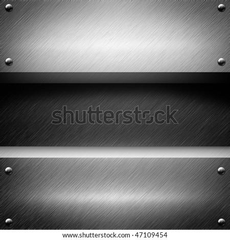 aluminum metal (template background) - stock photo