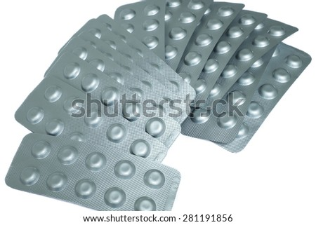 Aluminum of blister pack, Alu blister pack - stock photo