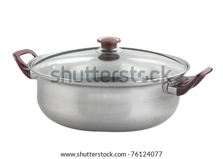 Aluminum pan or pot with glass cover