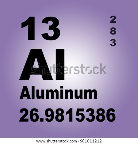 Aluminum periodic table elements stock illustration 601011212 aluminum periodic table of elements urtaz Gallery