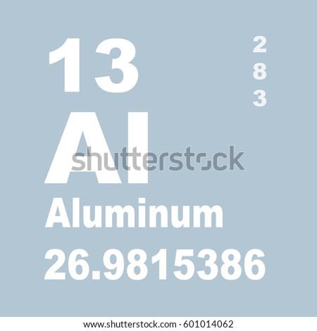Aluminum periodic table elements stock illustration 601014062 aluminum periodic table of elements urtaz Gallery