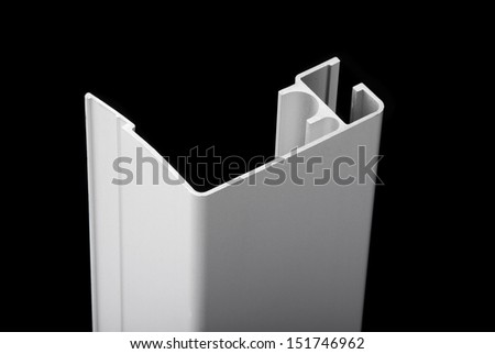 Aluminum profile - stock photo