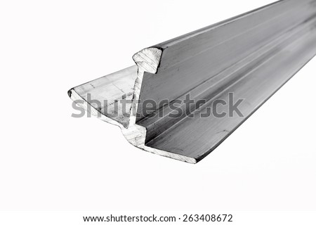 Aluminum profile - stock photo