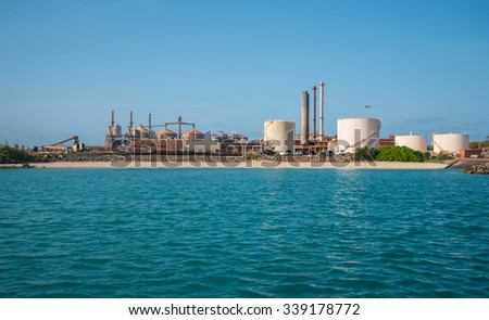 Aluminum refinery in Gove the remote area of the Northern territory, Australia. - stock photo