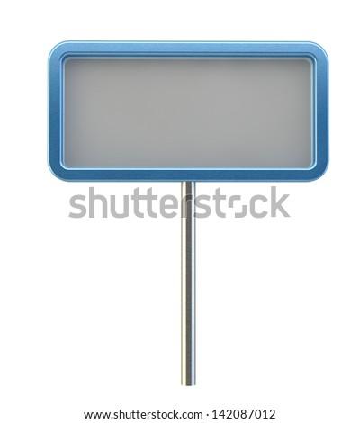 aluminum sign - stock photo