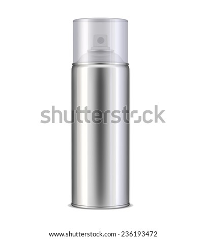 Aluminum spray can - stock photo