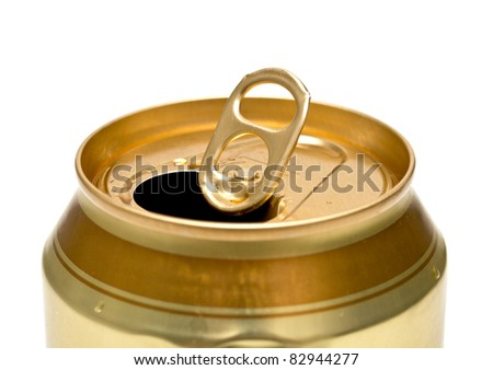 aluminum tin isolated on white background - stock photo