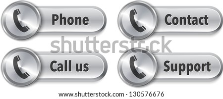 Aluminum web elements with phone sign