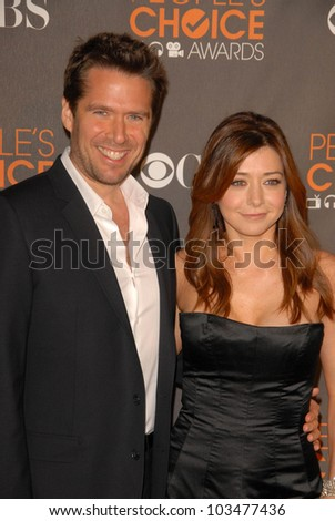 Alyson Hannigan and Alexis Denisof at the arrivals for the 2010 People's Choice Awards, Nokia Theater L.A. Live, Los Angeles, CA. 01-06-10