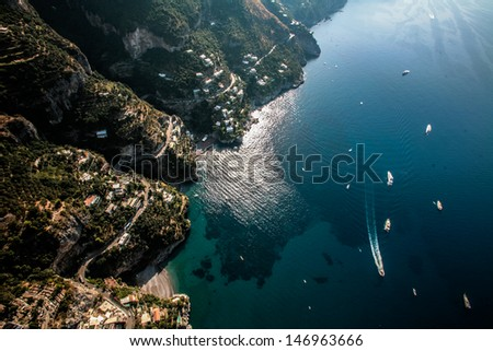 amalfi coast best italian locations - stock photo