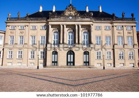 Amalienborg Palace, Copenhagen - stock photo