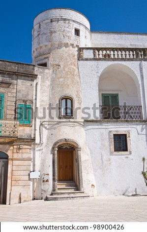 Amati tower. Cisternino. Puglia. Italy.