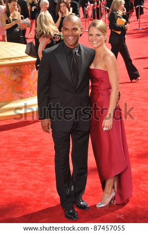 Amaury Nolasco & Jennifer Morrison at the 61st Primetime Emmy Awards at the Nokia Theatre L.A. Live. September 20, 2009  Los Angeles, CA Picture: Paul Smith / Featureflash