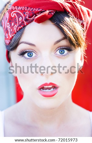 Amazed Woman Stares With Her Mouth Wide Open In A Surprised Shocked And Stunned Expression - stock photo