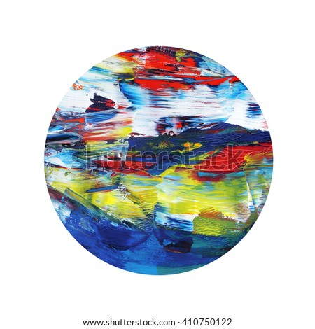 Amazing abstract acrylic hand painted design elements - stock photo