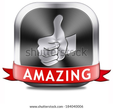 amazing and inspirational product mind blowing excellent and fantastic product. Wow factor. - stock photo