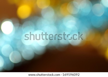 amazing bokeh of New Year lights - stock photo