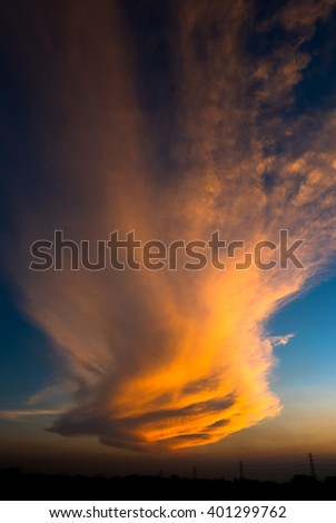 Amazing Cloud at sunset