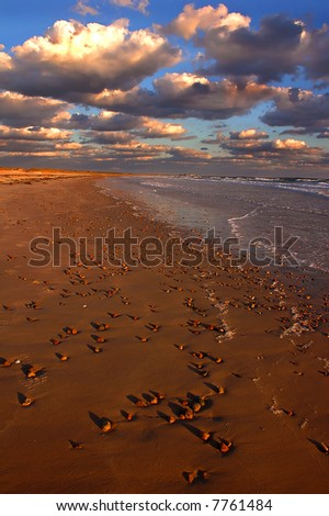 Amazing Clouds at sunset - stock photo