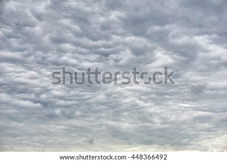 Amazing clouds before a storm - stock photo