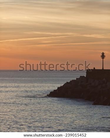 Amazing dusk in Spain. High density range image  - stock photo