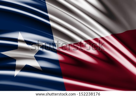 Amazing Flag of the States of Texas , United States ( USA ) , America - stock photo