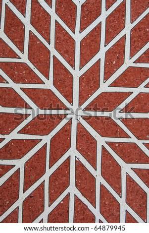amazing floor tiles - stock photo