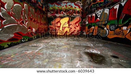 amazing grafitti - stock photo