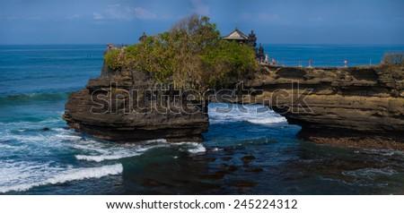 Amazing landscape at Tanah Lot temple, Bali. Indonesia - stock photo