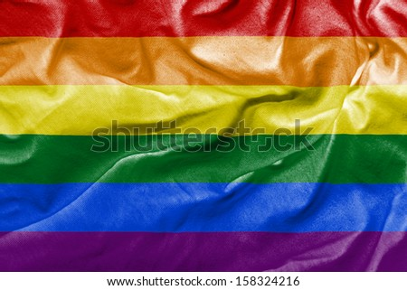 Amazing LGBT Flag - lesbian, gay, bisexual, and transgender  - stock photo