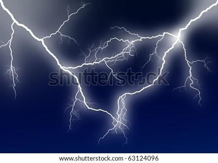 Amazing lightning - stock photo