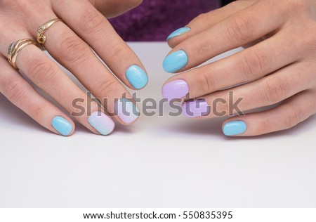 Amazing Manicure Natural Nails Gel Polish Stock Photo Edit Now