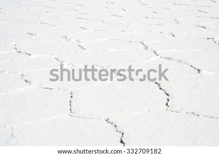 Amazing natural scenery: Salt Flats of Salar de Uyuni, Bolivia - stock photo