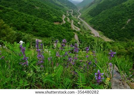 Amazing nature landscape, Armenia - stock photo