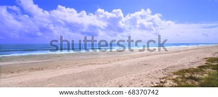 Amazing Ormond Beach along the east coast of Florida - stock photo