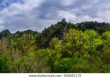 Amazing scenic landscape, Armenia - stock photo