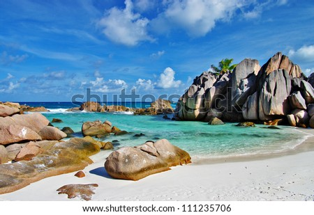 amazing Seychelles with unique granite rocks