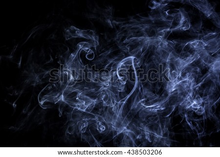 Amazing smoke abstract in black background isolated - stock photo