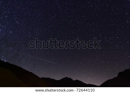 Amazing Star Night - stock photo