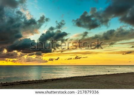 amazing sunrise - stock photo